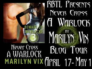 Never Cross A Warlock Blog Tour Banner